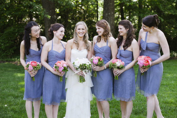 Memphis garden wedding bridesmaids