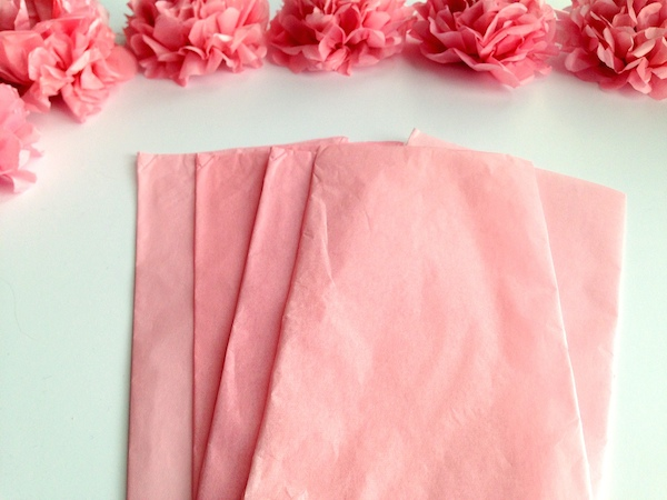 DIY Tissue Paper Flower Tutorial Step 1
