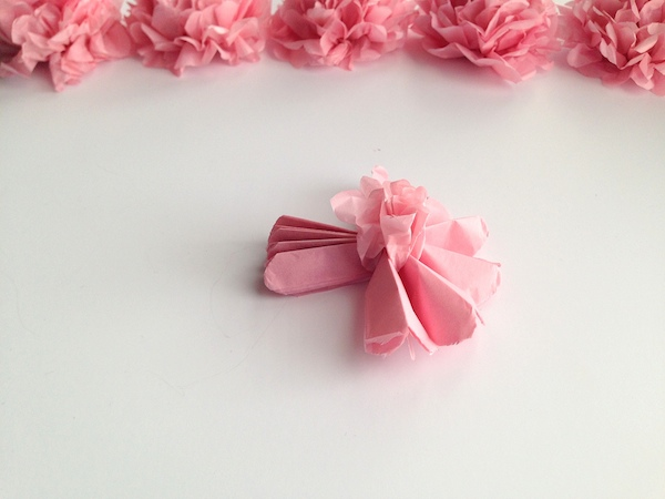 DIY Tissue Paper Flower Tutorial Step 6