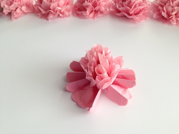 DIY Tissue Paper Flower Tutorial Step 9