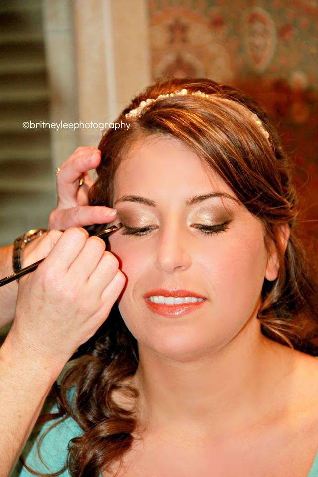 Memphis Wedding Makeup Artist Haley Moffitt bride Meghan