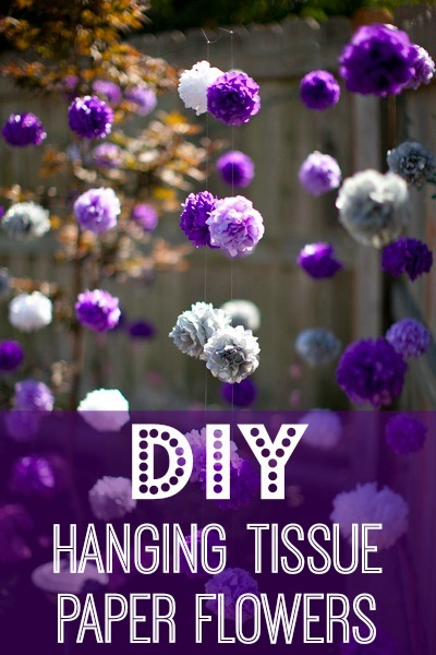 diy hanging tissue paper flowers tutorial