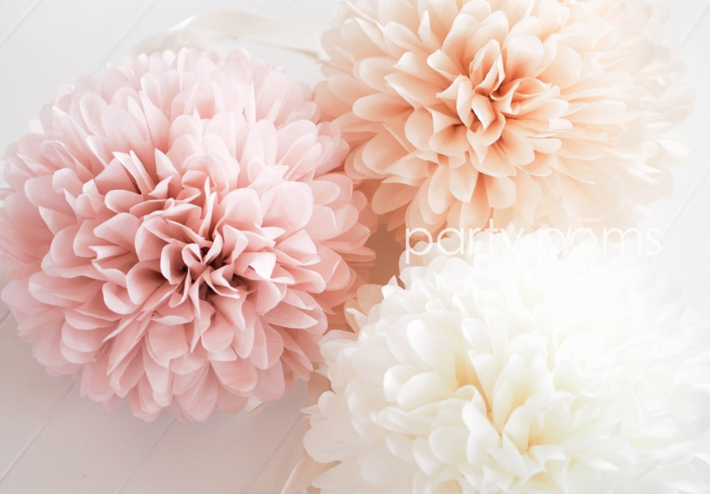 Diy hanging tissue paper flowers tutorial mid south bride for Flower decoration made of paper