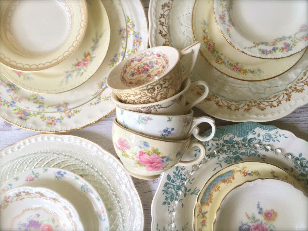 mismatched plates china vintage for weddings & Mismatched Wedding Plates Tea Cups \u0026 Saucers | Mid-South Bride