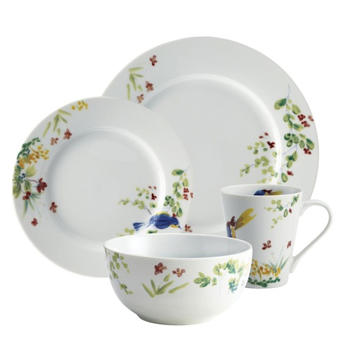spring dinnerware set for mismatched plates