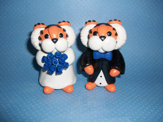 Memphis Tigers wedding cake topper