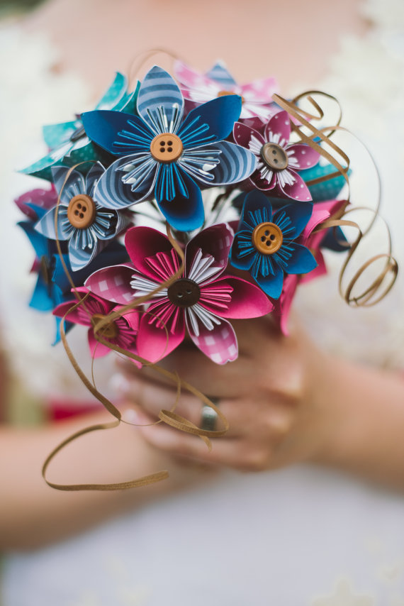 bridal kusudama bouquet from My Wooly Mammoth