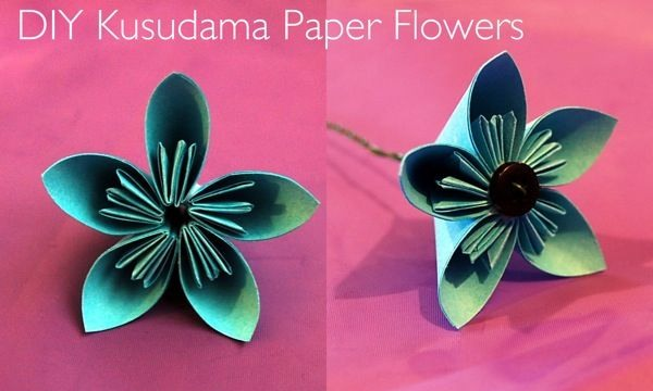 diy kusudama flowers