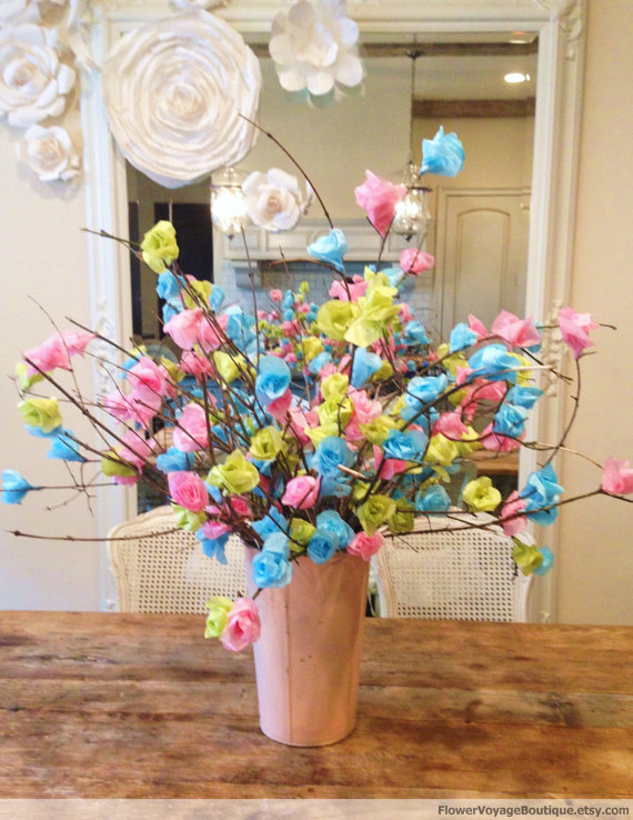Paper flower centerpiece ideas mid south bride paper flower centerpiece idea mightylinksfo