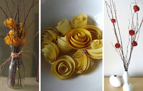 rolled paper_flowers centerpiece