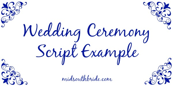 wedding ceremony script example