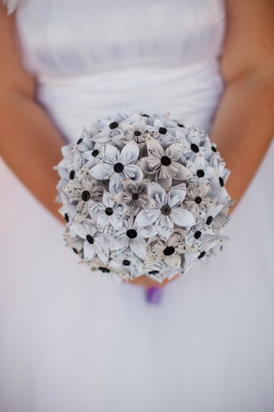 paper wedding flower bouquet
