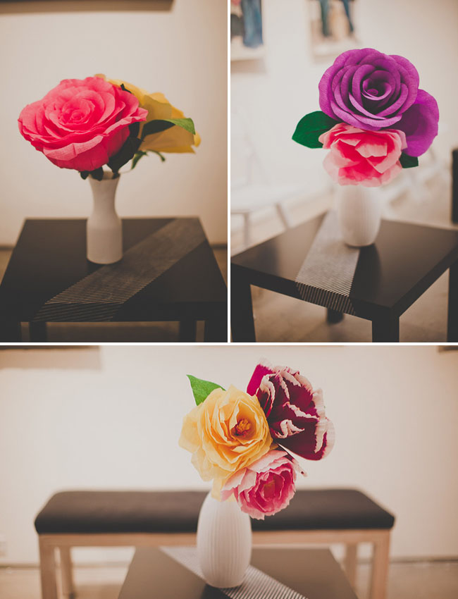 wedding paper flowers - paper flower centerpieces