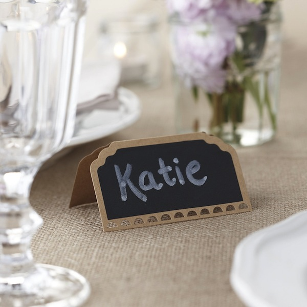 chalkboard wedding place setting