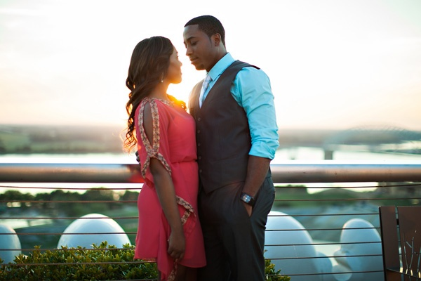 memphis engagement photos ideas - rooftup at sunset