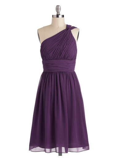 modcloth bridesmaid dress - moonlight marvel dress in plum