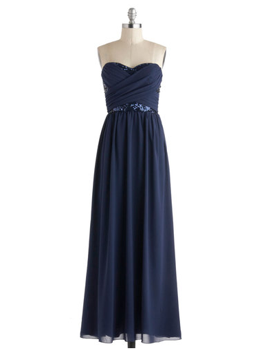 modcloth bridesmaid dress - receiving line dress in navy