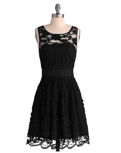 modcloth bridesmaid dress - when night comes dress in noir