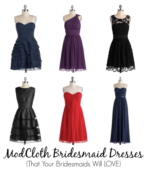 modcloth bridesmaid dresses love