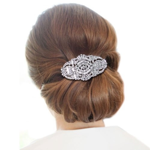 wedding hair comb Great Gatsby Inspired Art Deco Hair Comb