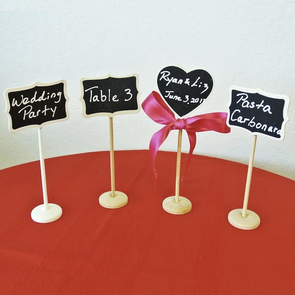 wedding mini chalkboard tags