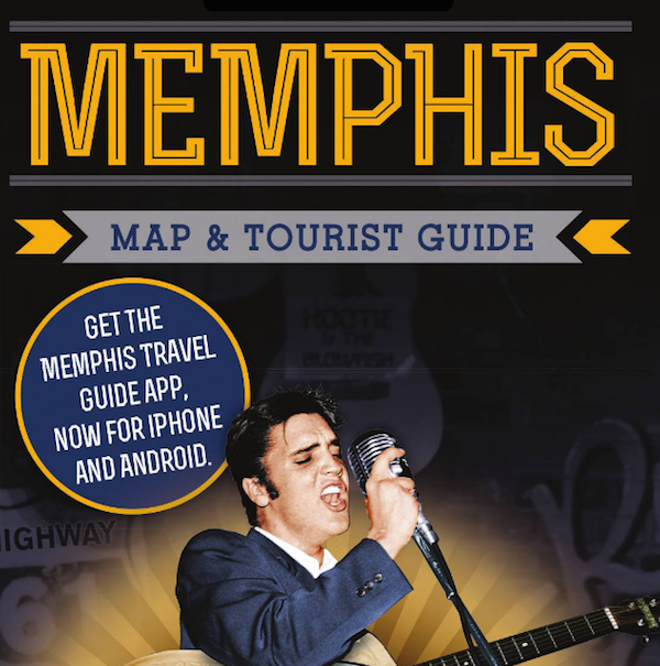 wedding welcome bag - memphis map and tourist guide