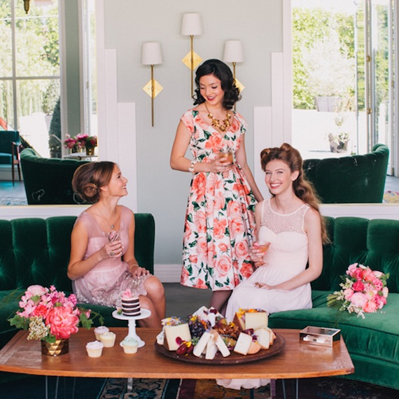 modcloth and 100 layer cake wedding collection