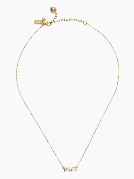 say yes mrs necklace in gold from kate spade wedding