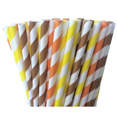 fall paper straws for weddings