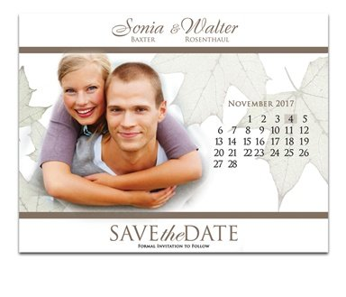 fall wedding date save the date