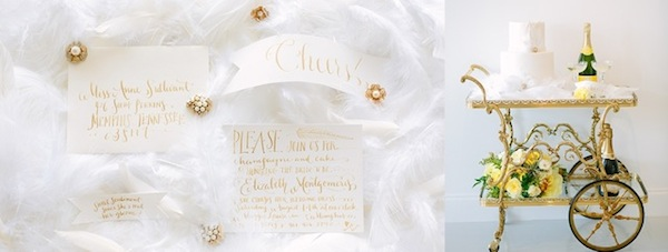 memphis wedding invitation calligraphy by natalie chang - photo Annabella Charles
