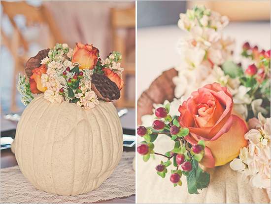pumpkin wedding centerpieces