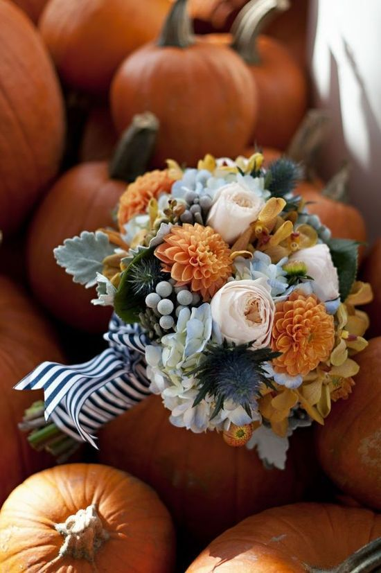 pumpkin wedding color palette