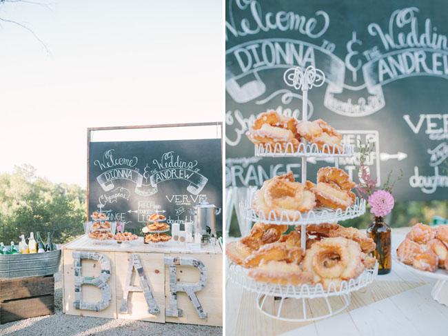 bar and donuts - morning wedding inspiration