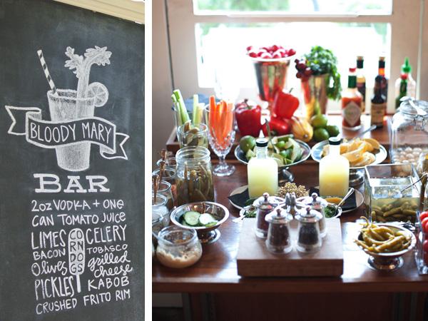 bloody mary bar - brunch wedding ideas