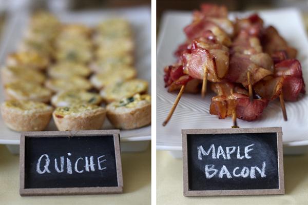 breakfast food - brunch wedding ideas