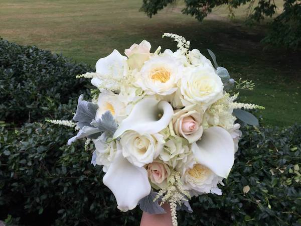 bride bouquet subtle fall wedding flowers by kacie cooper floral designer