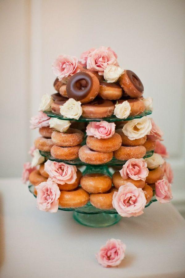 donut wedding cake - morning wedding inspiration