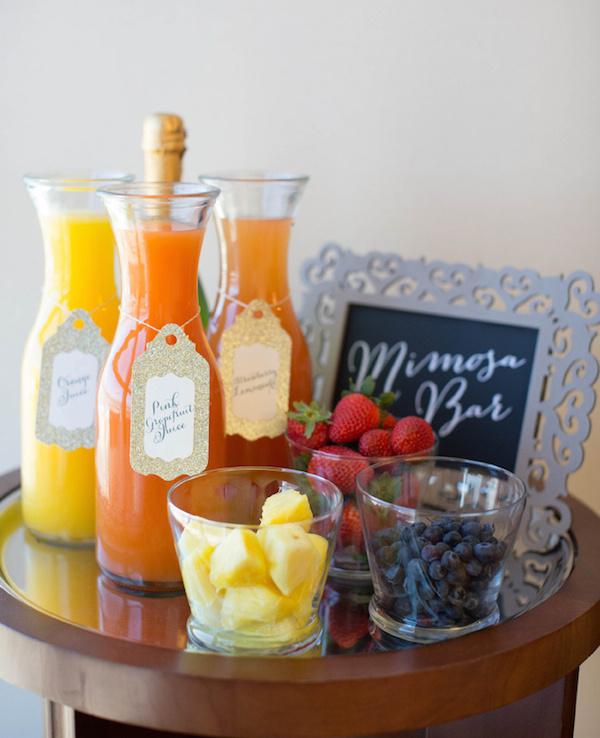 mimosa bar - morning wedding inspiration
