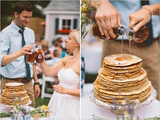 pancake wedding cake - morning wedding inspiration