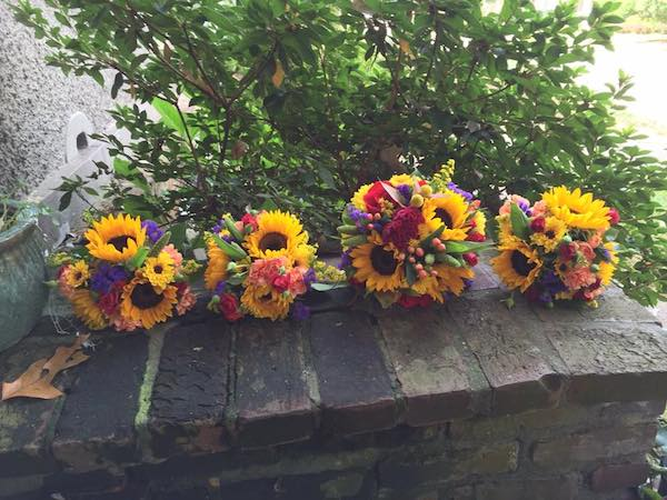 yellow fall wedding flowers bouquets by kacie cooper floral designer