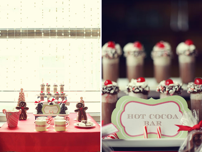 christmas wedding ideas - hot chocolate bar