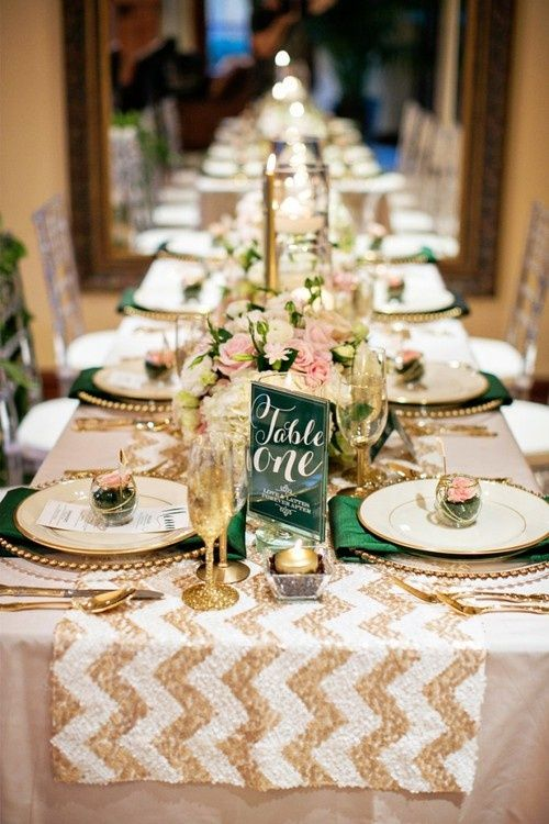 gold wedding table - gold wedding inspiration
