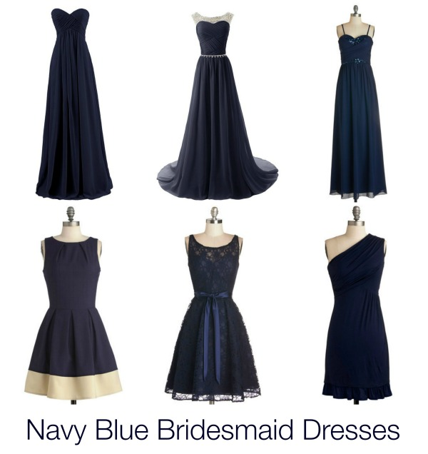 navy blue bridesmaid dress inspiration