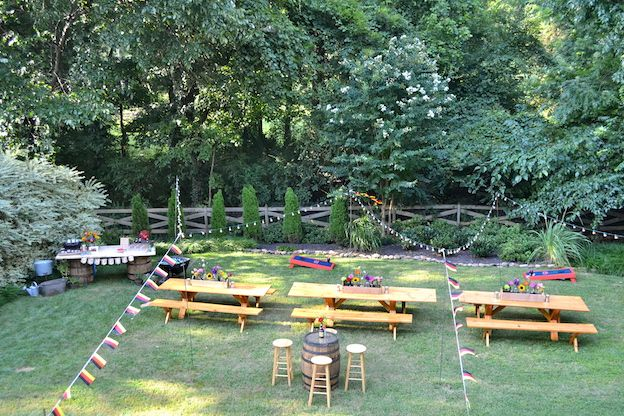 how to plan a backyard engagement party