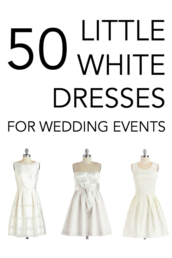 50 little white dresses for wedding events