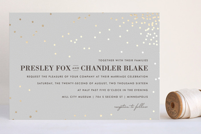 best gold wedding invitations - thrilling gold foil pressed wedding invites from minted