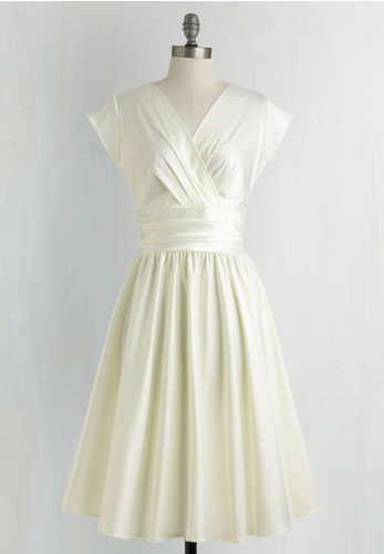love you ivory day dress for bridal events