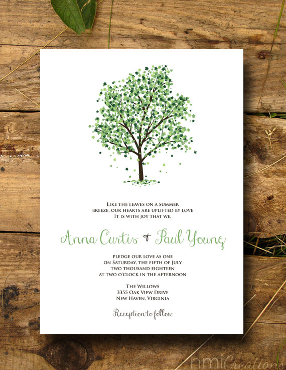 Nature Inspired Tree Wedding Invitations MidSouth Bride