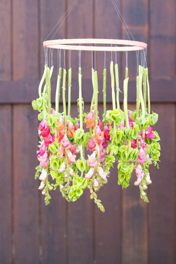diy hanging flower chandelier for weddings - sweetest occasion - midsouthbride.com